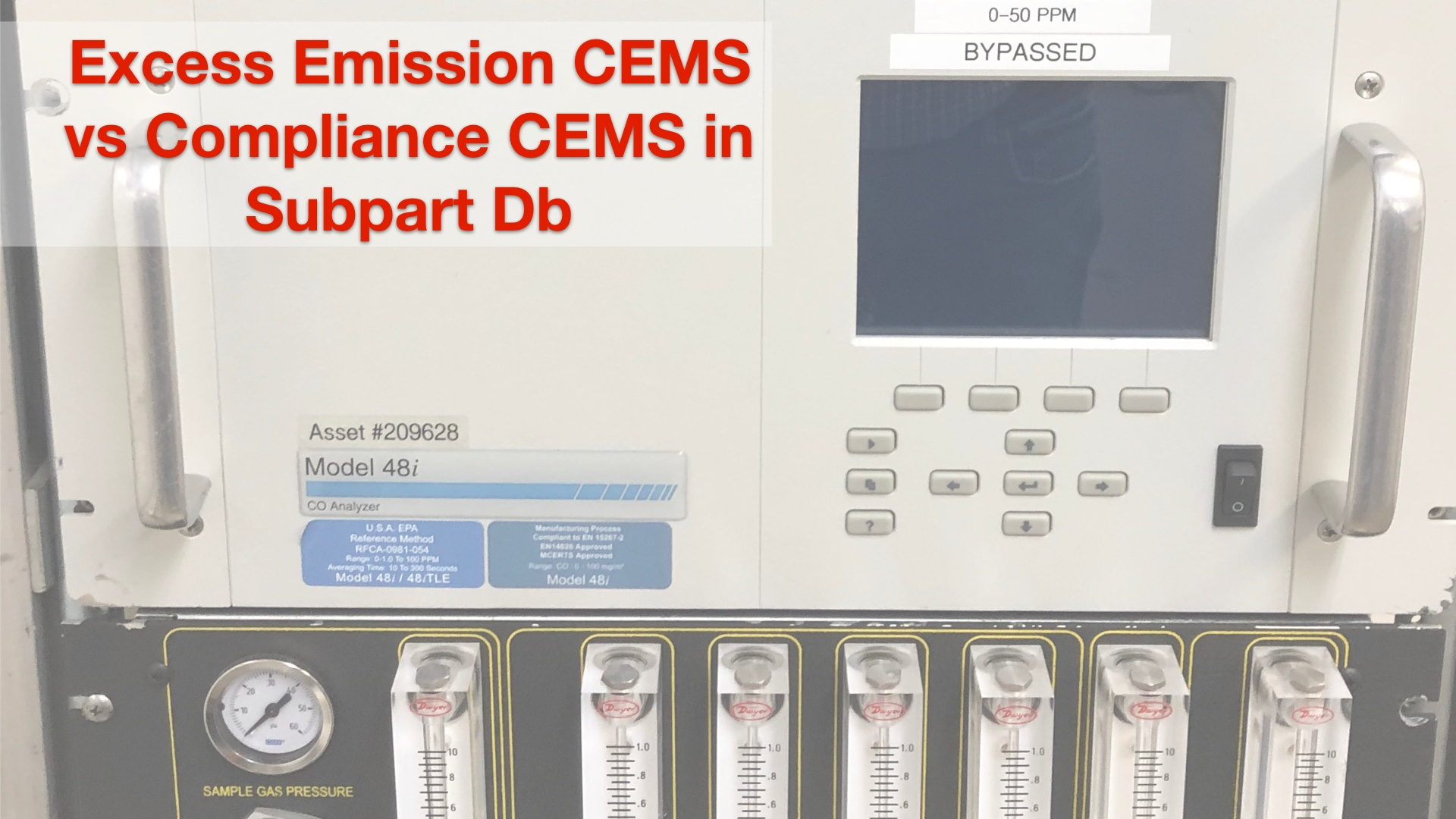 Excess Emission CEMS vs Compliance CEMS in Subpart Db
